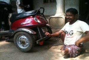 2014: Mobility vehicle for physically challenged people